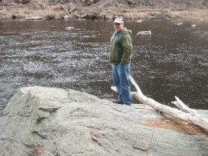 Pete Mallet On Scott's Rock, MacKenzies Pool, Millers River